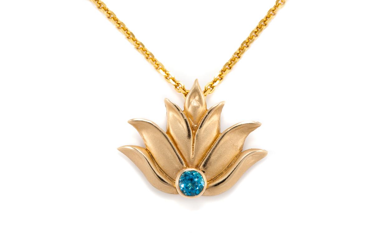 Lotus pendant 14k yellow gold andrea lopresti lotus pendant 14k yellow gold mozeypictures Image collections