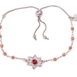 Raffinato-Bracelet-Sterling Silver-Red Garnet-On White